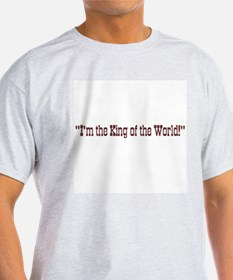 King of the World Titanic Ash Grey T-Shirt