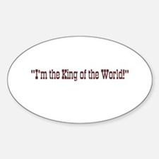 King of the World Titanic Oval Decal