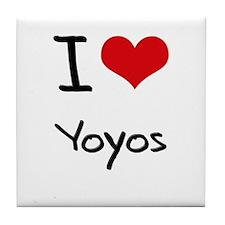 I love Yoyos Tile Coaster