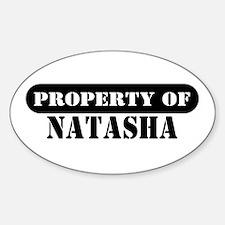 Property of Natasha Oval Decal