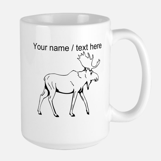 Custom Moose Sketch Mug
