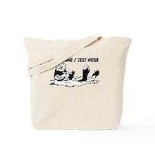 Custom Sea Otter Sketch Tote Bag