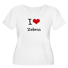 I love Zebras Plus Size T-Shirt