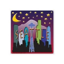Seattle Skyline Mega Color Sticker