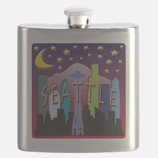 Seattle Skyline Mega Color Flask