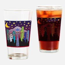 Seattle Skyline Mega Color Drinking Glass