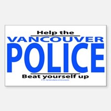 Help Police (Vanc) Rectangle Decal