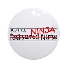 Job Ninja RN Ornament (Round)