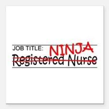 "Job Ninja RN Square Car Magnet 3"" x 3"""