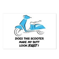 Fast Butt (Turquoise) Postcards (Package of 8)