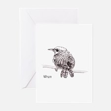 Little Brown Wren Greeting Cards (Pk of 10)
