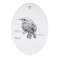 Wren Oval Ornament