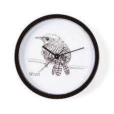 Little Brown Wren Wall Clock