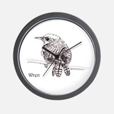 Little Brown Wren Wall Clock