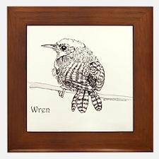 Little Brown Wren Framed Tile