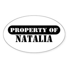 Property of Natalia Oval Decal