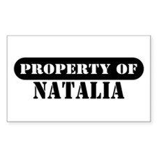 Property of Natalia Rectangle Decal
