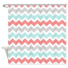teal and coral shower curtains teal and coral fabric