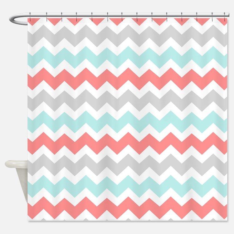 Gray And Pink And Teal Shower Curtains | Gray And Pink And Teal ...
