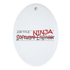 Job Ninja Software Engineer Ornament (Oval)