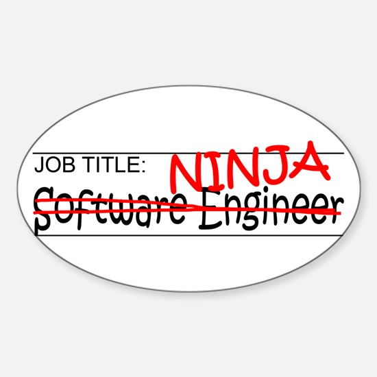 Job Ninja Software Engineer Sticker (Oval)
