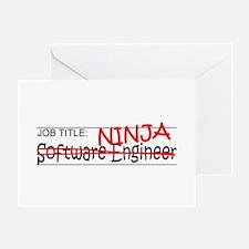 Job Ninja Software Engineer Greeting Card