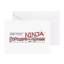Job Ninja Software Engineer Greeting Cards (Pk of