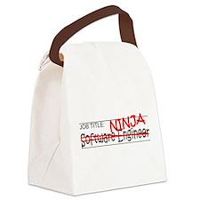 Job Ninja Software Engineer Canvas Lunch Bag