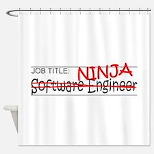 Job Ninja Software Engineer Shower Curtain