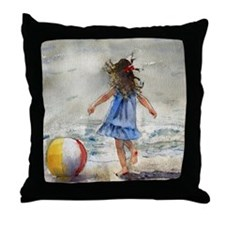 Beach Girl 2 Throw Pillow
