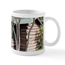 Log cabin, Grand Canyon North Rim, Arizona, USA Mu