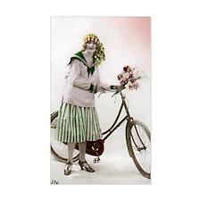 Vintage Bicycle Girl Decal