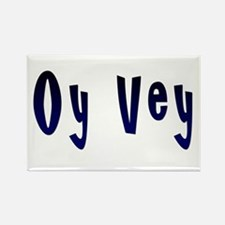 Oy Vey Yiddish Rectangle Magnet