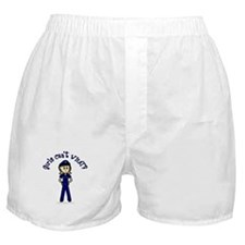 Light Police Woman Boxer Shorts