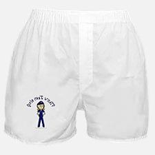 Light Police Woman Boxer Shorts