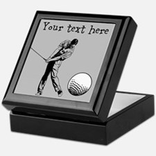Customizable Golfer and Golf Ball Keepsake Box