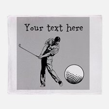 Customizable Golfer and Golf Ball Throw Blanket