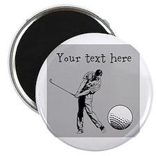 Customizable Golfer and Golf Ball Magnet
