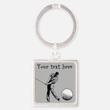 Customizable Golfer and Golf Ball Keychains