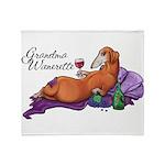 Grandma Wienerette Throw Blanket