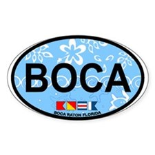 Boca Raton - Oval Design. Decal