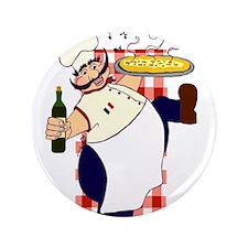 """Italian chef! 3.5"""" Button"""