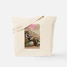 Vintage Swimsuit Pinup Girl Tote Bag