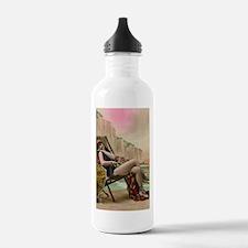 Vintage Swimsuit Pinup Girl Water Bottle