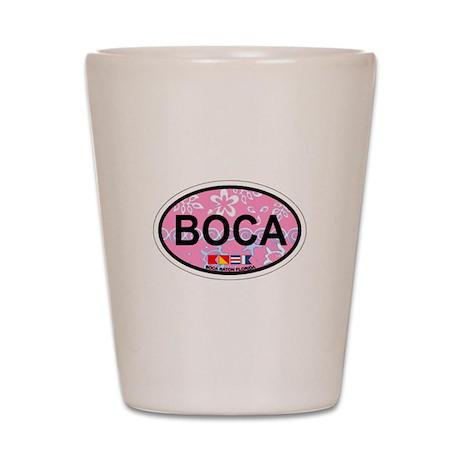 Boca Raton - Oval Design. Shot Glass