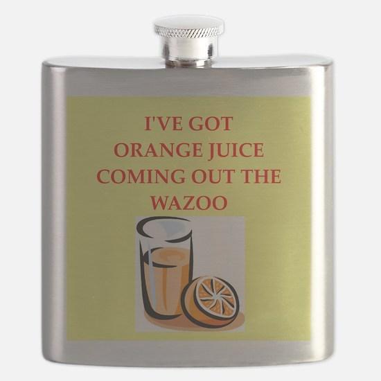 orange juice Flask