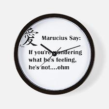 Marucius Say: Hes not feeling Wall Clock