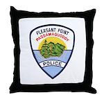 Pleasant Point Police Throw Pillow