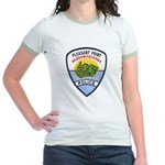 Pleasant Point Police Jr. Ringer T-Shirt