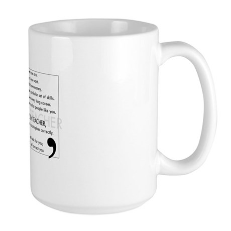 I Will Find You - Apostrophes Large Mug